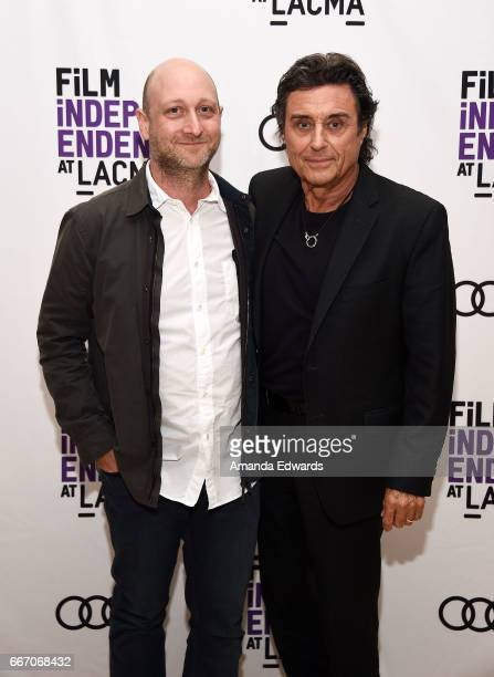 Producer and showrunner Michael Green and actor Ian McShane attend the Film Independent at LACMA special screening and QA of 'American Gods' at the...