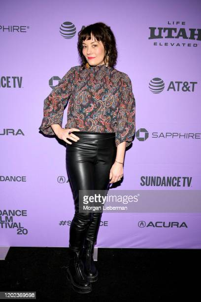 Producer and subject Natasha Gregson Wagner attends the 2020 Sundance Film Festival Natalie Wood What Remains Behind Premiere at The Marc Theatre on...