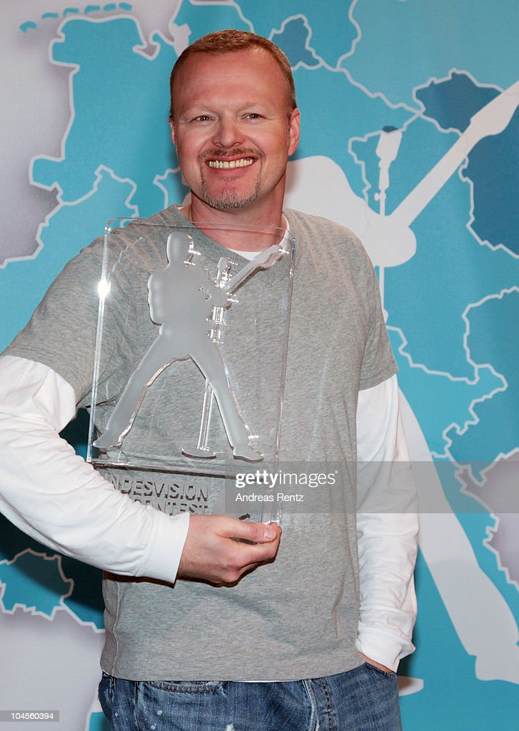 Producer and TV host Stefan Raab attends a press conference to promote the 'Bundesvision Song Contest 2010' at the Max-Schmeling Hall on September 30, 2010 in Berlin, Germany.