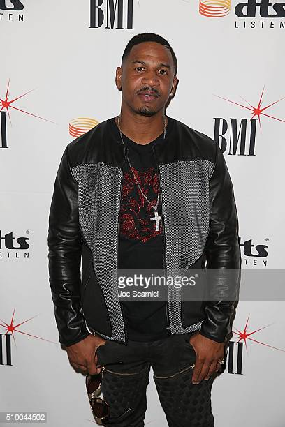 Producer and TV Personality Stevie J arrives at BMI's How I Wrote That Song Panel at Roxy on February 13 2016 in Los Angeles California