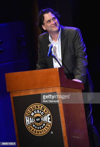 Producer and Writer at the Country Music Hall of Fame and Museum Peter Cooper speaks onstage during the kick off of Jason Isbell's sold out residency...