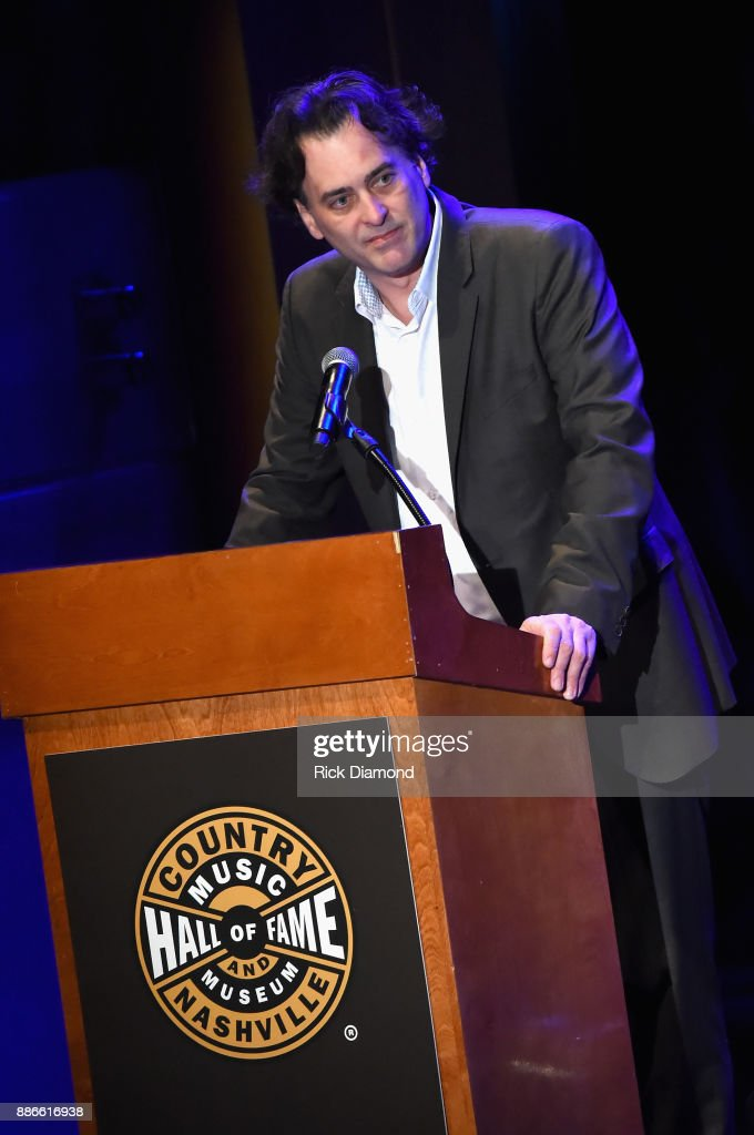 Producer and Writer at the Country Music Hall of Fame and Museum Peter Cooper speaks onstage during the kick off of Jason Isbell's sold out residency at the Country Music Hall of Fame and Museum on December 5, 2017 in Nashville, Tennessee.