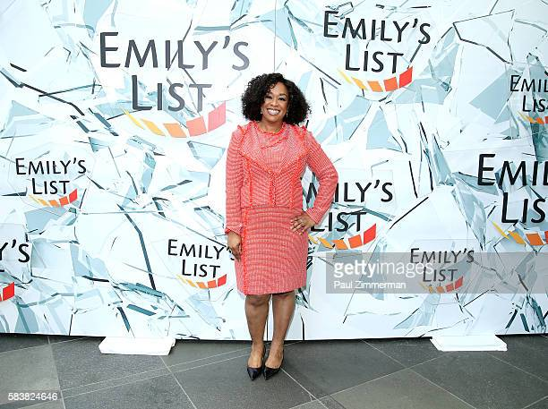 Producer and writter Shonda Rhimes attends EMILY's List Breaking Through 2016 at the Democratic National Convention at Kimmel Center for the...