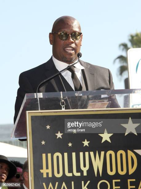 Producer Andre Harrell attends the ceremony honoring Mary J Blige with a Star on The Hollywood Walk of Fame on January 11 2018 in Hollywood California