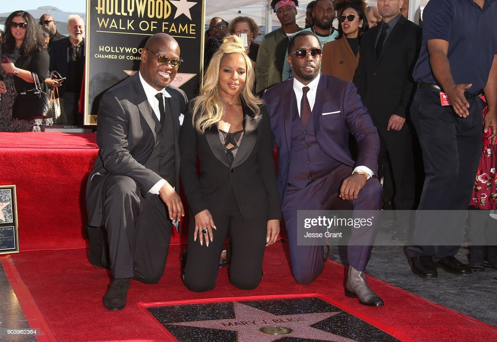 Mary J. Blige Honored With Star On The Hollywood Walk Of Fame : News Photo
