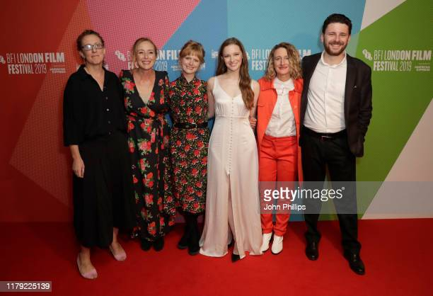 Producer Andrea Cornwell, Jennifer Ehle, director Rose Glass, Morfydd Clark, BFI London Film Festival Director Tricia Tuttle and producer Oliver...