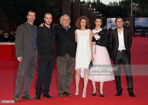 Producer Andrea Occhipinti actor Lorenzo Balducci director Carlos Saura actors Emilia Verginelli Francesca Inaudi and Lino Guanciale attend the 'Io...