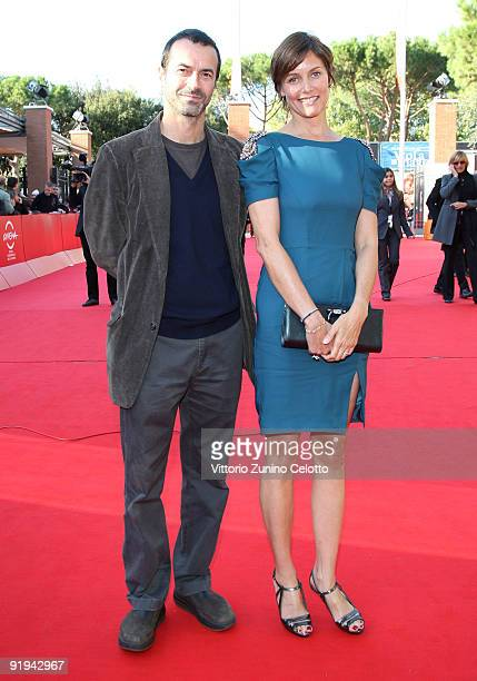 Producer Andrea Occhipinti and actress Cary Lowell attend the 'Hachico A Dog's Story' Premiere during day 2 of the 4th Rome International Film...