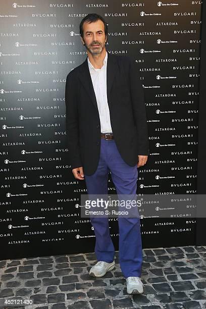 Producer Andrea Occhipinti attends the 'Isabella Ferrari Forma/Luce' cocktail party at Horti Sallustiani on July 13 2014 in Rome Italy