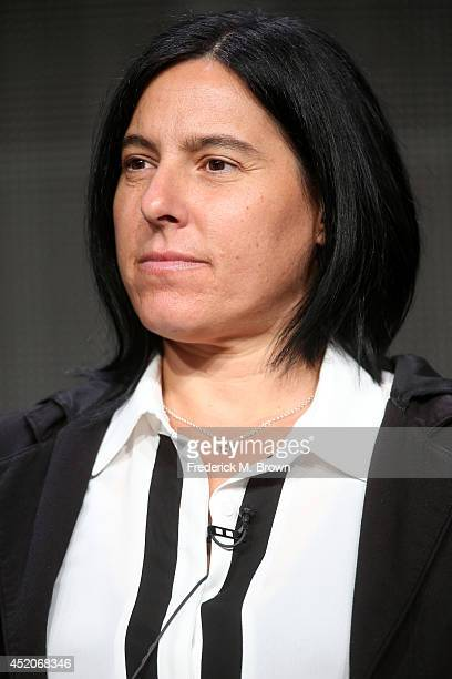 Producer Andrea Sperling speaks onstage at the 'Transparent' panel during the Amazon Prime Instant Video portion of the 2014 Summer Television...