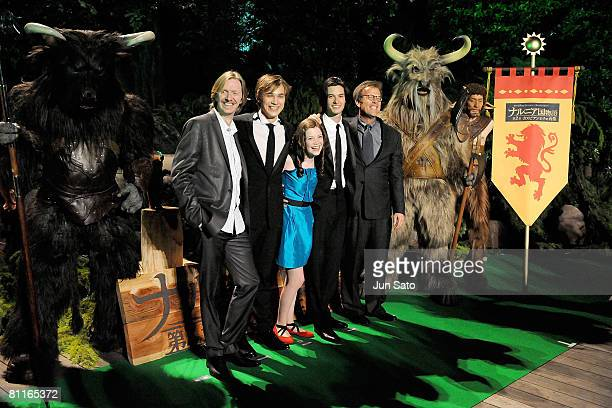 Producer Andrew Adamson actor William Moseley actress Georgie Henley actor Ben Barnes and director Mark Johnson attend The Chronicles of Narnia...