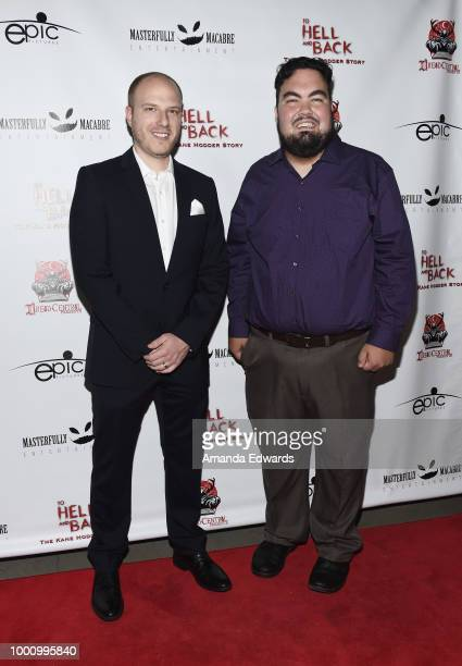 Producer Andrew Barcello and Derek Dennis Herbert arrive at a screening of Epic Pictures Releasing's 'To Hell And Back The Kane Hodder Story' at the...