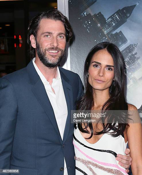Producer Andrew Form and wife actress Jordana Brewster attend the premiere of Paramount Pictures' Project Almanac at the TCL Chinese Theatre on...
