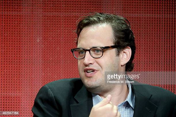 Producer Andrew Kreisberg speaks onstage at the 'The Flash' panel during the CW Network portion of the 2014 Summer Television Critics Association at...