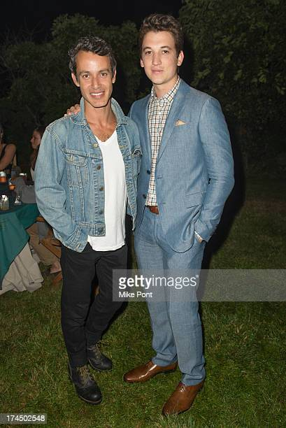 "Producer Andrew Lauren and Actor Miles Teller attend The Hollywood Reporter & Samsung with The Cinema Society screening of A24's ""The Spectacular..."