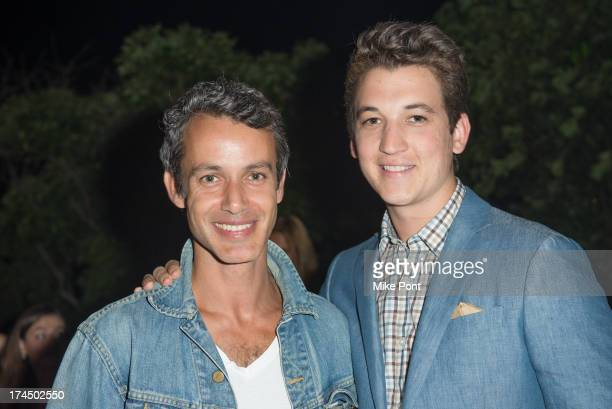 Producer Andrew Lauren and Actor Miles Teller attend The Hollywood Reporter Samsung with The Cinema Society screening of A24's The Spectacular Now at...