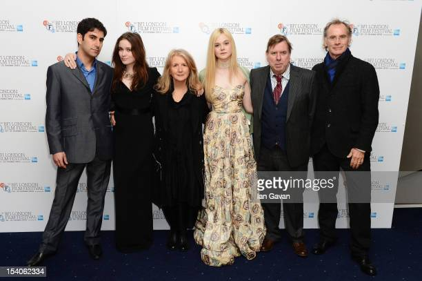 Producer Andrew Litvin actress Alice Englert director Sally Potter actress Elle Fanning actor Timothy Spall and producer Christopher Sheppard attend...