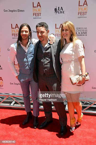 """Producer Andrew Panay and Panos Panay attend the premiere of """"Earth to Echo"""" during the 2014 Los Angeles Film Festival at Premiere House on June 14,..."""