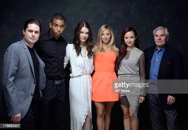 Producer Andrew van den Houten actors Tom Williamson Sianoa SmitMcPhee Brooke Butler Amanda Grace Cooper and producer Robert Tonino of 'All...