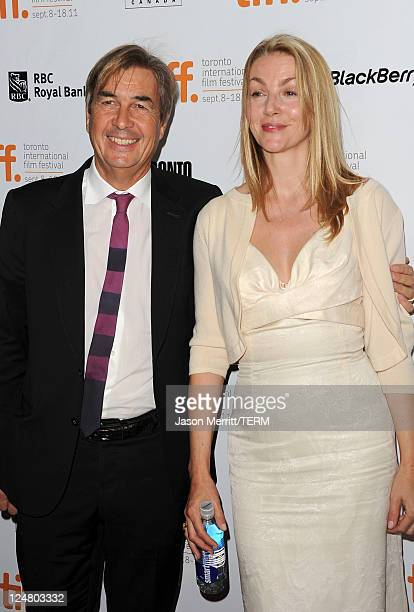 Producer Andy Harries and Rebecca Harries attend 'The Lady' Premiere at Roy Thomson Hall during the 2011 Toronto International Film Festival on...