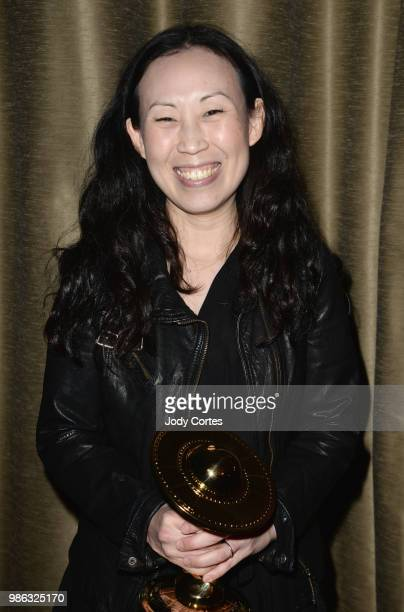 Producer Angela Kang poses backstage at the Academy Of Science Fiction Fantasy Horror Films' 44th Annual Saturn Awards held at The Castaway on June...