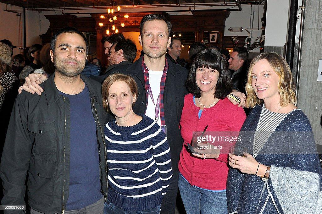 Producer Anish Savjani, filmmaker Kelly Reichardt, producer Neil Kopp, Suzy Starke German and Claire Jackson attend the Certain Women event hosted by Luna at Sundance Film Festival on January 24, 2016 in Park City, Utah.