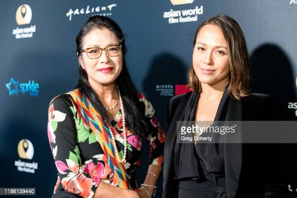 Producer Ankie Lau and actress Ankie Bielke attend the Opening Night of the 5th Annual Asian World Film Festival on November 06 2019 in Culver City...