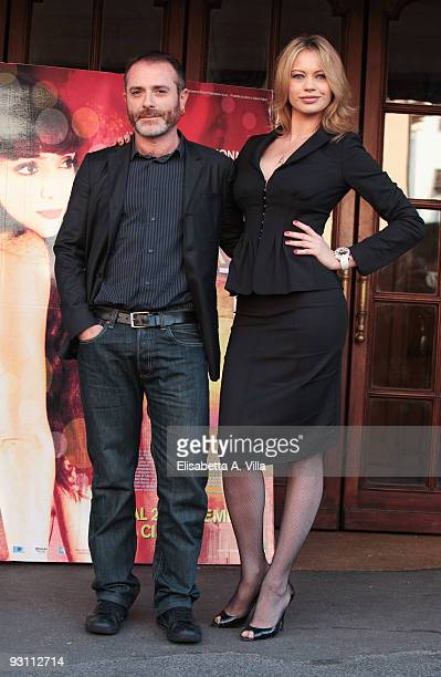 Producer Anna Falchi and director Luciano Melchionna attend 'Ce N'e Per Tutti' photocall at Embassy Cinema on November 17 2009 in Rome Italy