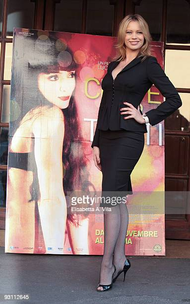 Producer Anna Falchi attends 'Ce N'e Per Tutti' photocall at Embassy Cinema on November 17 2009 in Rome Italy