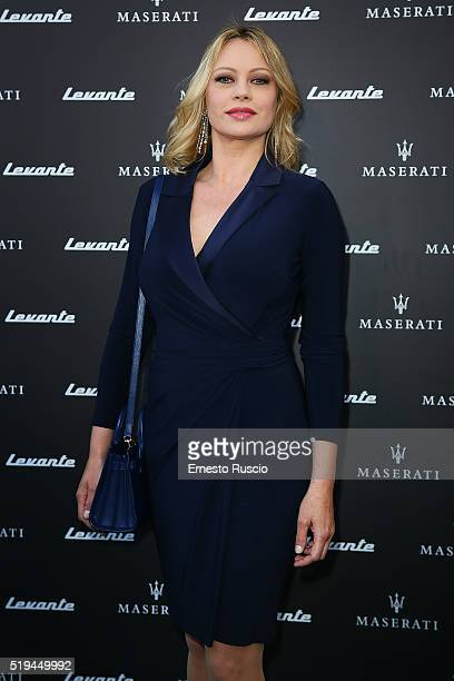 Producer Anna Falchi attends the 'Maserati Levante' Presentation at Casa Delle Armi on April 6 2016 in Rome Italy