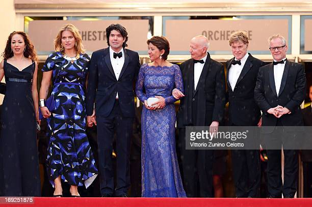 Producer Anna Gerb Mary Cameron Goodyear director J C Chandor Sibylle Szaggars Chairman of the Cannes Film Festival Gilles Jacob Robert Redford and...