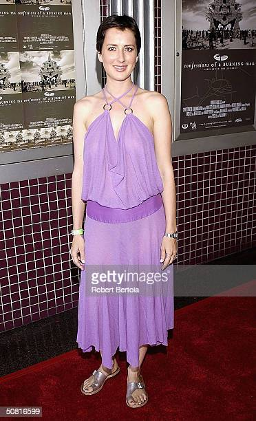 Producer Anna Getty arrives at the 'Confessions of a Burning Man' premiere May 7 2004 at the Laemmle Fairfax Cinemas in Hollywood California
