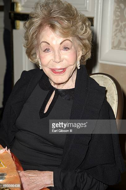 Producer Anne Douglas attends the Los Angeles Mission Gala at Four Seasons Hotel Los Angeles at Beverly Hills on October 20 2015 in Los Angeles...