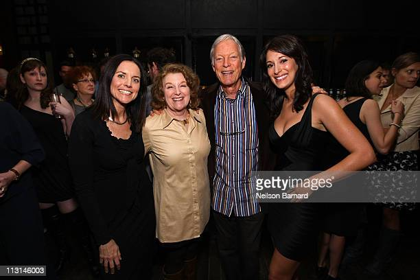 Producer Anne Renton with actors Rebecca Wackler Richard Chamberlain and Angelique Cabral attend The Perfect Family's premiere afterparty at the...