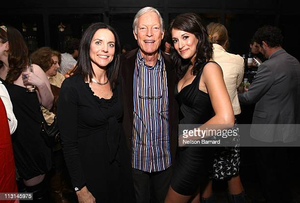 Producer Anne Renton with actors Richard Chamberlain and Angelique Cabral attend The Perfect Family's premiere afterparty at the Tribeca Film...