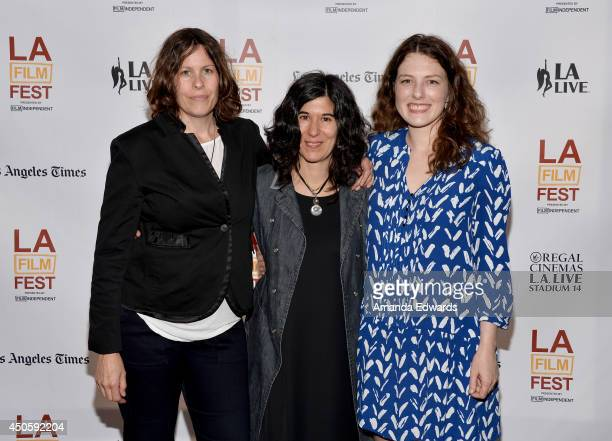 Producer Anne Rosellini director Debra Granik and ActressVictoria Stewart attend the 'Stray Dog' premiere during the 2014 Los Angeles Film Festival...