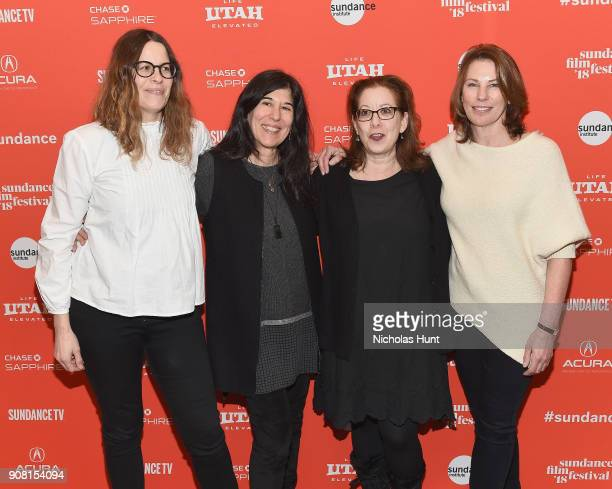 """Producer Anne Rosellini, Director Debra Granik, Producers Linda Reisman, and Anne Harrison attends the """"Leave No Trace"""" Premiere during the 2018..."""