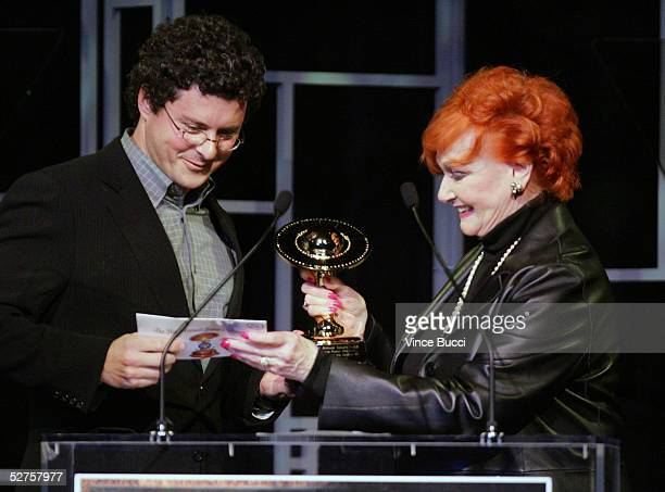 Producer Anthony Bregman accpets an award from actress Ann Robinson at the 31st Annual Saturn Awards at the Universal Hilton on May 3 2005 in Los...