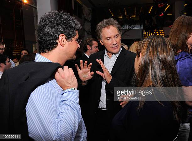 Producer Anthony Bregman actor Kevin Kline director Shari Springer Berman attend the after party for the premiere of The Extra Man at Vapiano on July...