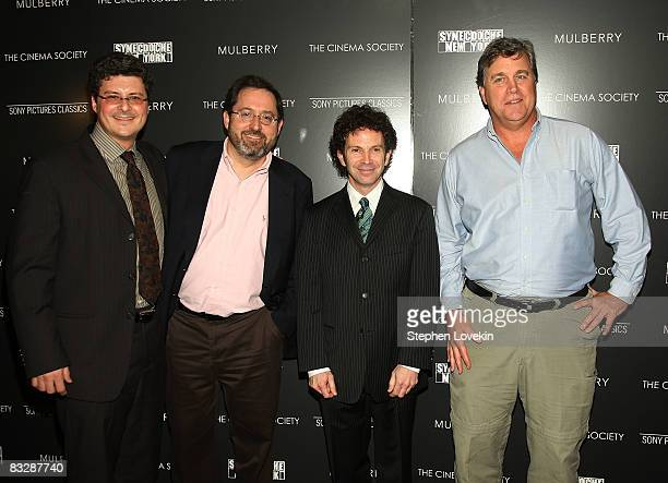 Producer Anthony Bregman Sony Pictures Classics CoPresident Michael Barker writer/director Charlie Kaufman and Sony Pictures Classics CoPresident Tom...