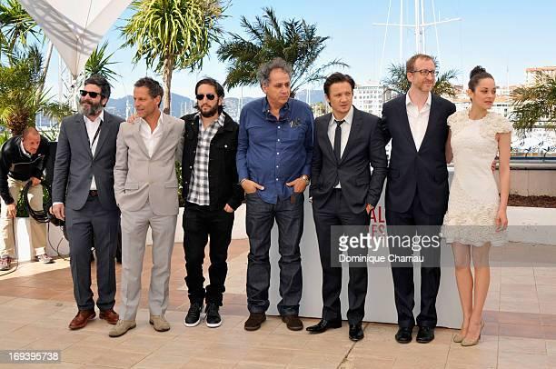 Producer Anthony Katagas actor Greg Shapiro Darius Khondji actor Jeremy Renner director James Gray and actress Marion Cotillard attend the photocall...