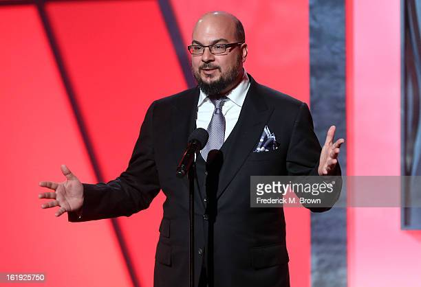 Producer Anthony Zuiker speaks onstage at the 3rd Annual Streamy Awards at Hollywood Palladium on February 17 2013 in Hollywood California