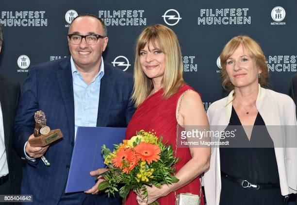 Producer Antonino Lombardo Nastassja Kinski and Valeska Grisebach during the premiere of 'Ihre Beste Stunde' as closing movie of Munich Film Festival...