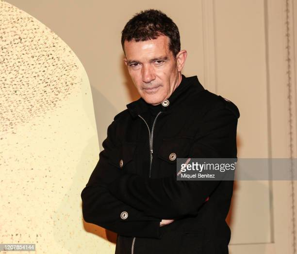 Producer Antonio Banderas attends 'A Chorus Line' Premiere at Teatre Tivoli on February 21 2020 in Barcelona Spain