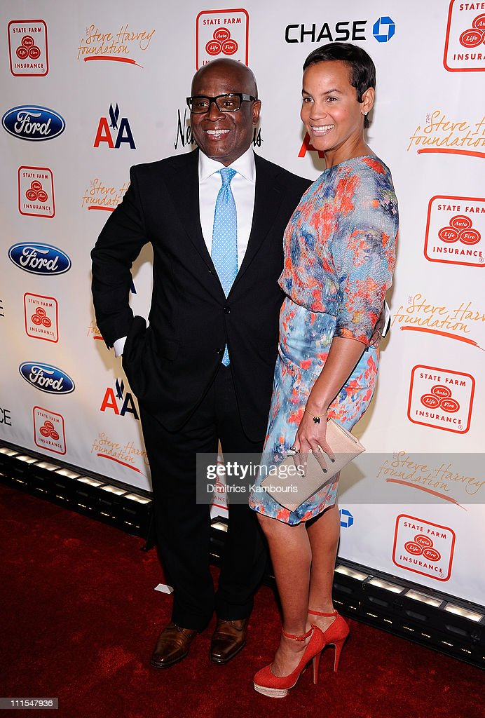 Producer Antonio 'LA' Reid and Erica Reid attend the 2nd annual Steve Harvey Foundation Gala at Cipriani, Wall Street on April 4, 2011 in New York City.