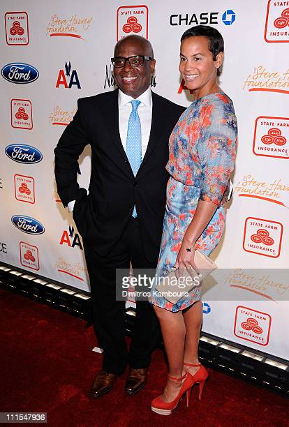 Producer Antonio 'LA' Reid and Erica Reid attend the 2nd annual Steve Harvey Foundation Gala at Cipriani Wall Street on April 4 2011 in New York City