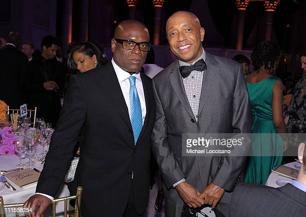 "Producer Antonio ""LA"" Reid and Russell Simmons attend the 2nd annual Steve Harvey Foundation Gala at Cipriani, Wall Street on April 4, 2011 in New..."