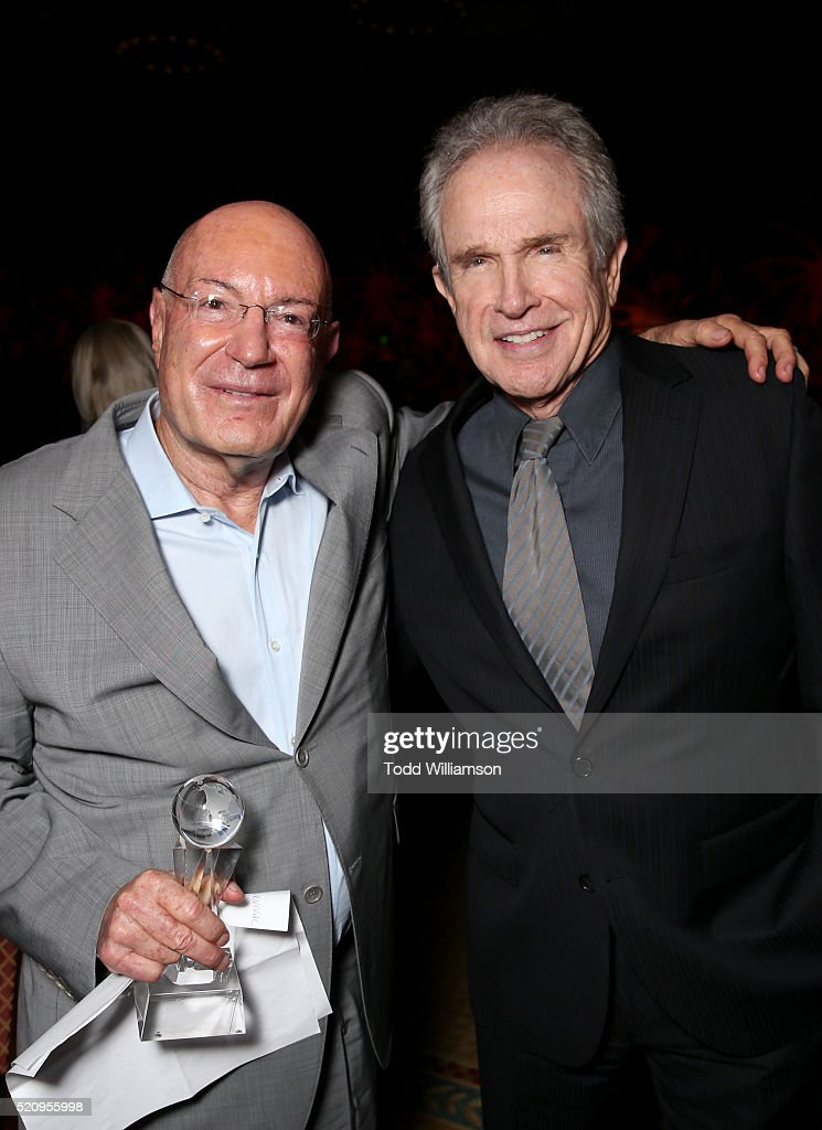 "Producer Arnon Milchan and actor Warren Beatty attend CinemaCon and 20th Century Fox Present ""From Passion to the Big Screen: An Afternoon with the Creative Team Behind 'The Revenant'"" at Caesars Palace during CinemaCon, the official convention of the National Association of Theatre Owners, on April 13, 2016 in Las Vegas, Nevada."