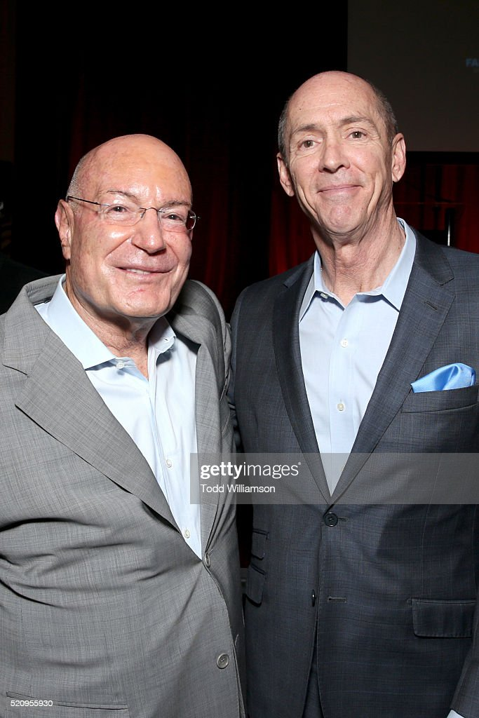 "Producer Arnon Milchan and Chris Aronson, Executive vice president of domestic distribution and general sales manager at 20th Century Fox attend CinemaCon and 20th Century Fox Present ""From Passion to the Big Screen: An Afternoon with the Creative Team Behind 'The Revenant'"" at Caesars Palace during CinemaCon, the official convention of the National Association of Theatre Owners, on April 13, 2016 in Las Vegas, Nevada."