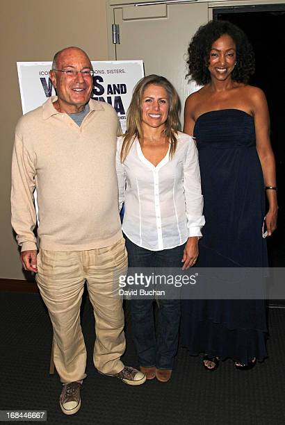 Producer Arnon Milchan his wife Amanda Coetzer and Producer Michelle Major attend the Los Angeles screening of 'Venus And Serena' at Zanuck Theater...